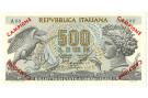 500 LIRE BIGLIETTO DI STATO ARETUSA CAMPIONE 20/06/1966 SUP+