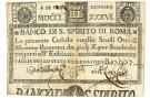8 SCUDI CEDOLA BANCO DI SANTO SPIRITO DI ROMA 08/01/1786 qBB