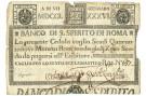 49 SCUDI CEDOLA BANCO DI SANTO SPIRITO DI ROMA 07/01/1786 MB+