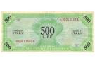 500 LIRE OCCUPAZIONE AMERICANA IN ITALIA MONOLINGUA BEP 1943 BB+