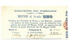 1 SCUDO COMUNE DI PESARO MATRICE BONO DI SCUDO UNO 12/05/1849 qFDS