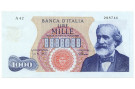 1000 LIRE GIUSEPPE VERDI I TIPO MEDUSA 04/01/1968 SUP-