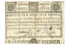9 SCUDI CEDOLA BANCO DI SANTO SPIRITO DI ROMA 08/01/1786 MB/BB