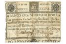 11 SCUDI CEDOLA BANCO DI SANTO SPIRITO DI ROMA 07/01/1786 MB+