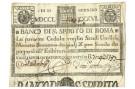 11 SCUDI CEDOLA BANCO DI SANTO SPIRITO DI ROMA 11/01/1786 MB+