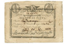 25 BAJOCCHI RESTO MONTE DI PIETÀ REPUBBLICA ROMANA IN LETTERE 14/08/1798 SUP