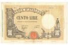 100 LIRE BARBETTI GRANDE B GIALLO TESTINA FASCIO 09/12/1942 BB+