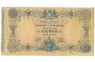 100 LIRE BIGLIETTO CONSORZIALE REGNO D'ITALIA 30/04/1874 BB/BB+