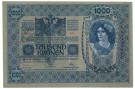 1000 CORONE OCCUPAZIONE DANNUNZIANA FIUME SOVRASTAMPA II TIPO 02/01/1902 qFDS